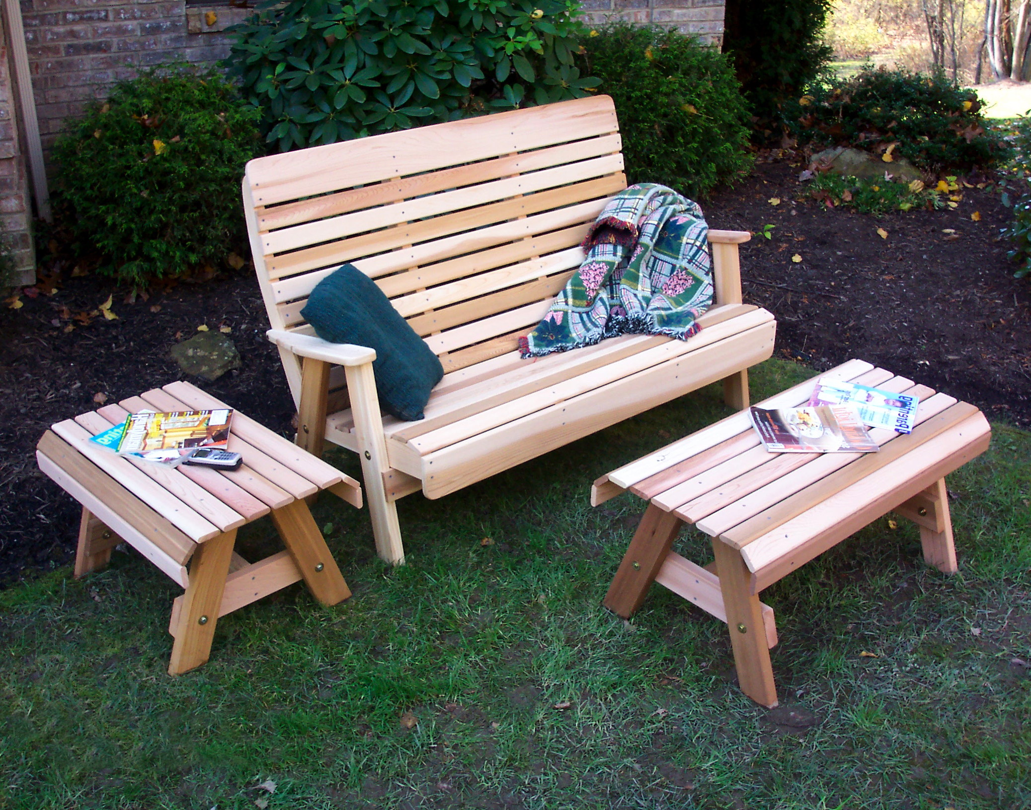 Cedar Porch Bench Plans PDF Woodworking