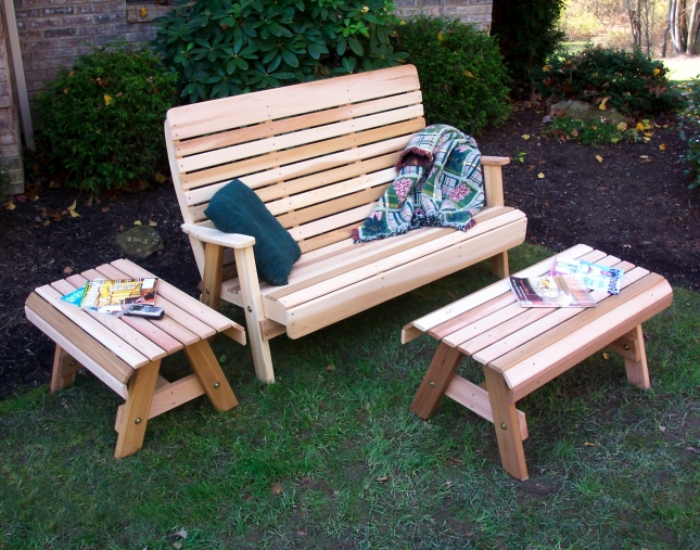cedar patio set plans