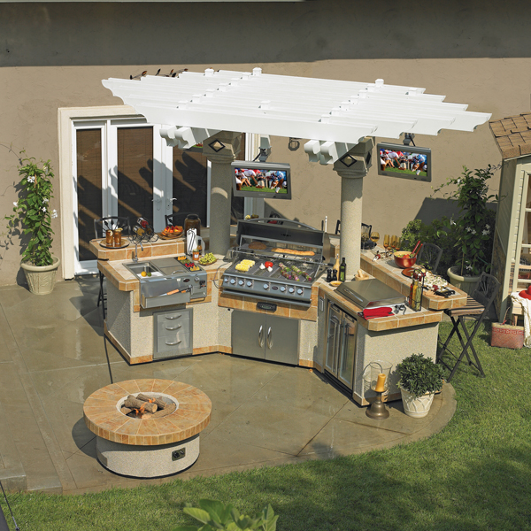 Backyard Man Cave Plans : Grand Pavilion GPV3100 Outdoor Kitchen from Cal Flame