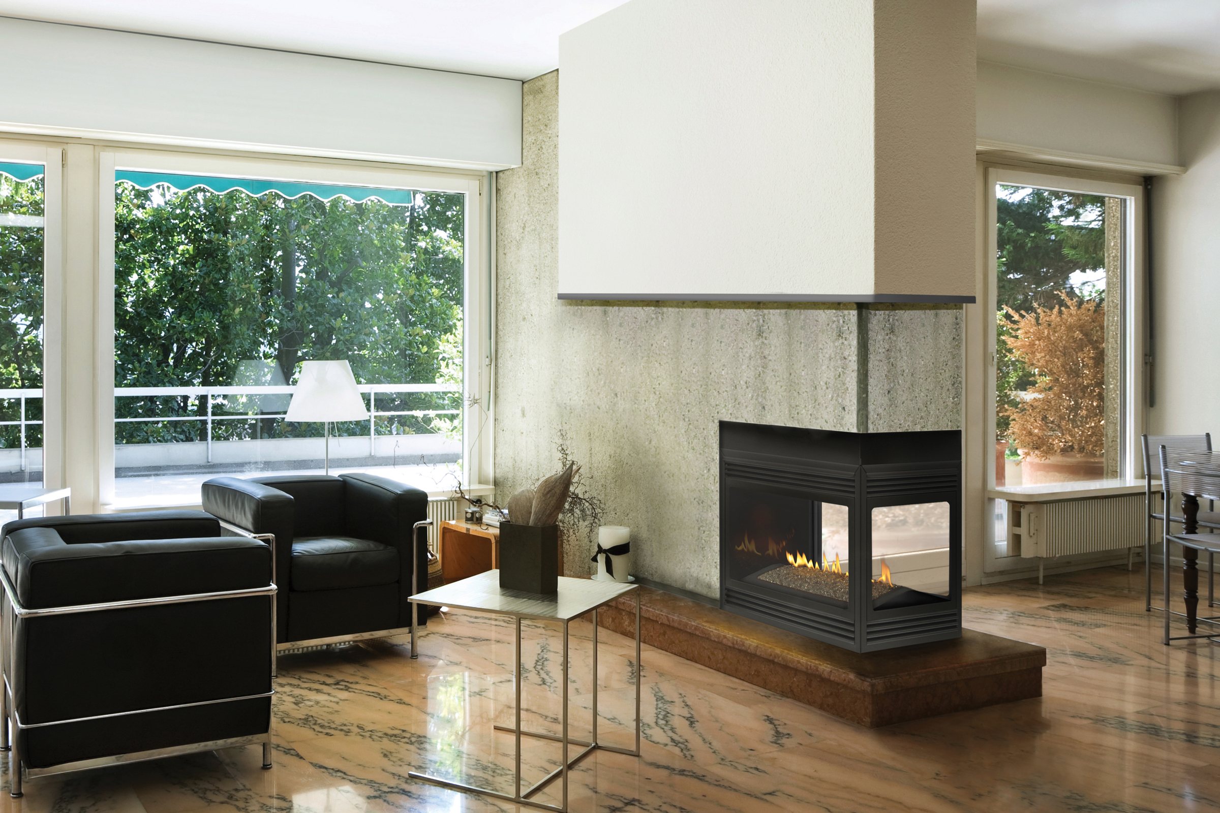 Improve House Appearance With Fireless Fireplace : Napoleon Gas ...