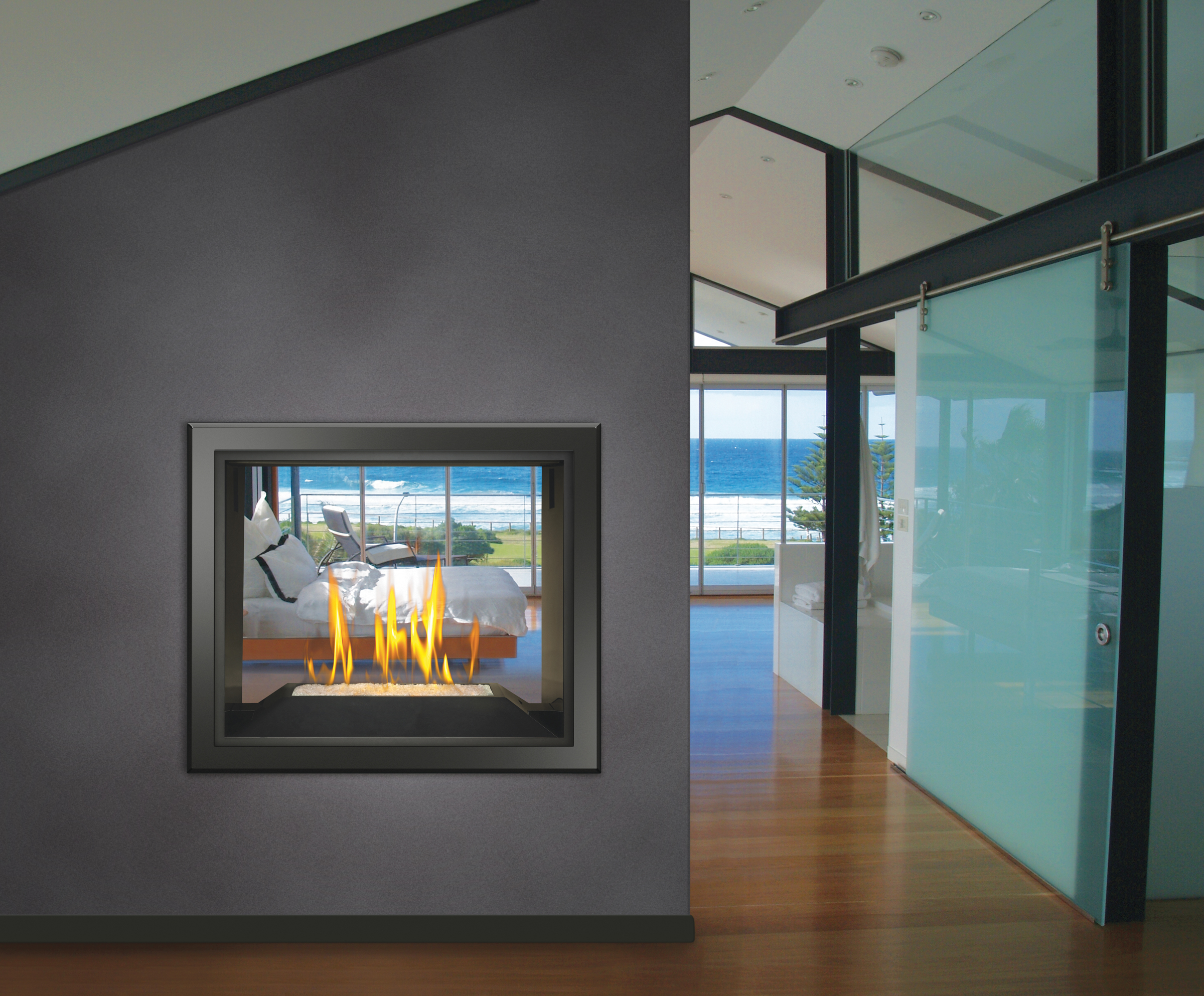 gas fireplaces two sided u2013 fireplaces