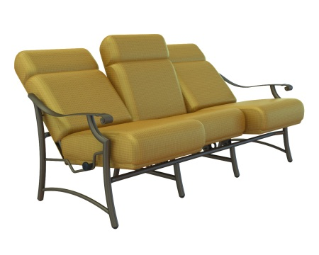 The URComfort™ Montreux Cushion Sofa from the Monterux Collection by Tropitone