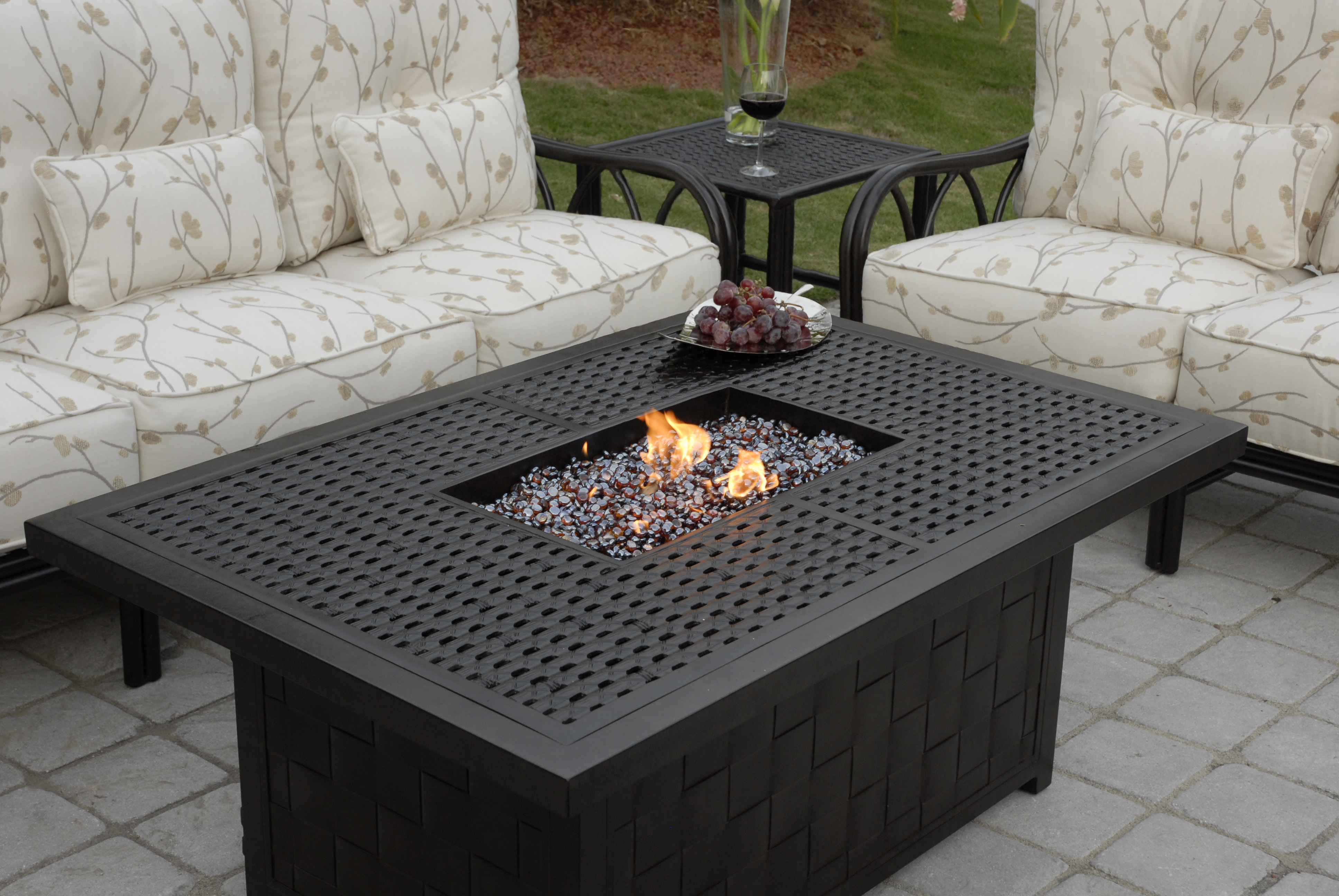 Costco Patio Furniture Clearance Rectangular Fire Pit from Pride Family Brands