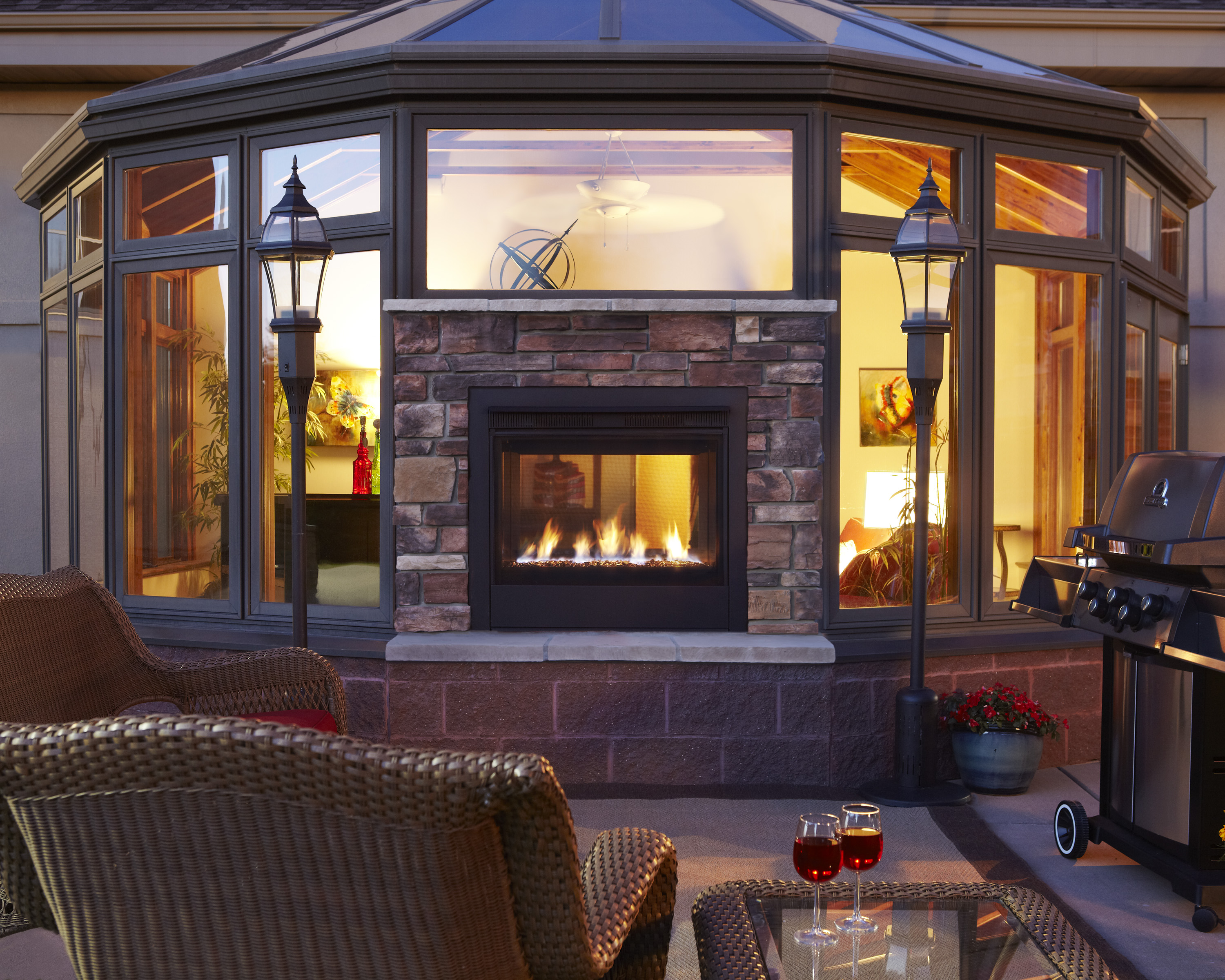 Luxury inside and out patio hearth blog - Houses outdoor fireplace ...