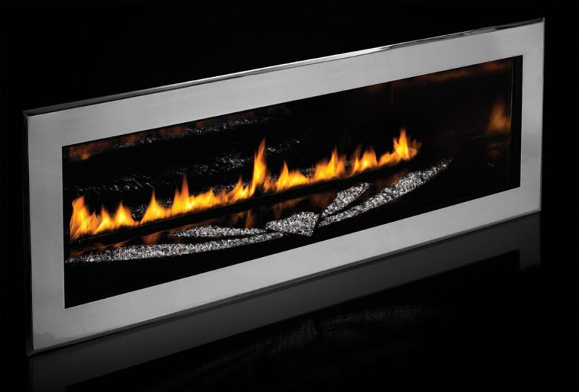 The LHD50 Limited Swarovski Edition fireplace from Napoleon