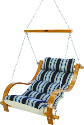 Single Swing With Oak Arms: Hamptons Summer Stripe from The Hammock Source