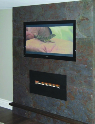 An example of a fireplace veneer from MLW Stone