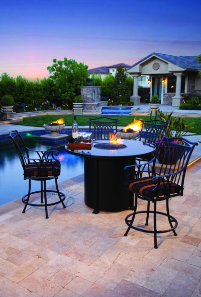 OW Lee's counter-height Santorini firepit