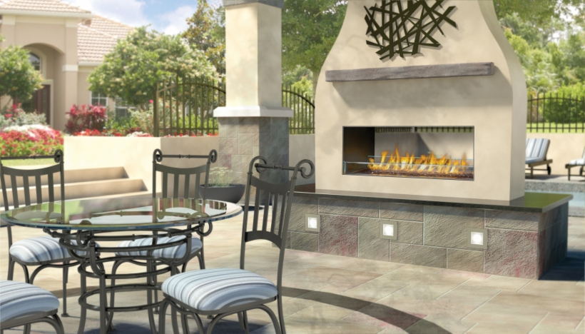 Napoleon Outdoor Linear Gas Fireplace