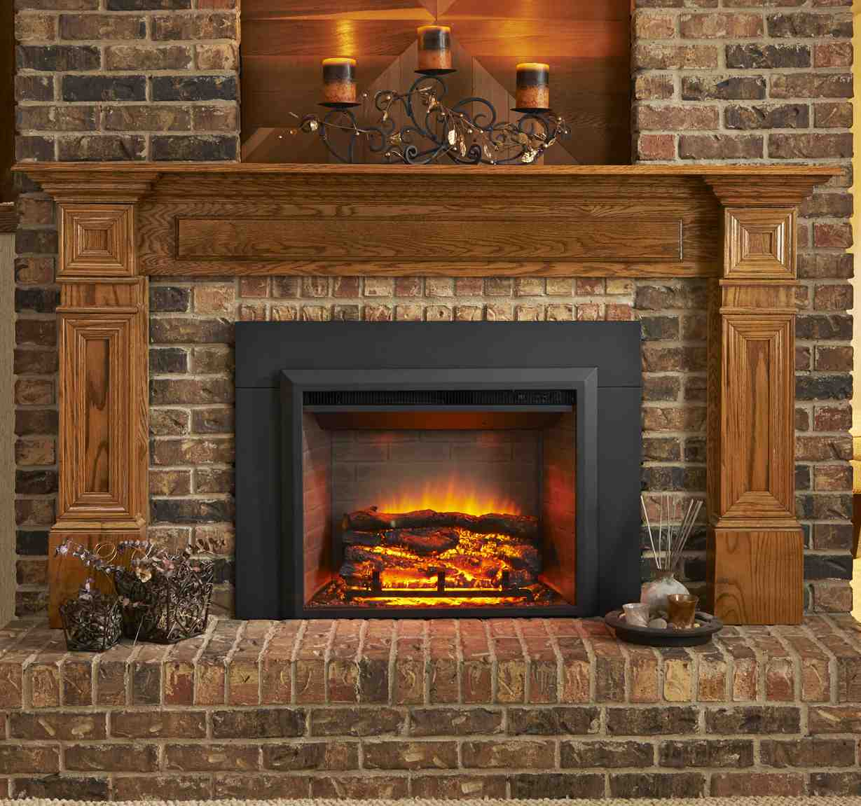 New Gallery Electric Fireplace Insert Adds Instant