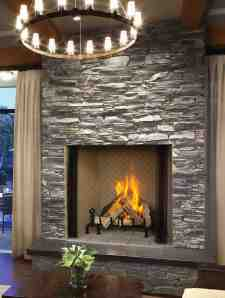 A durable powder-coat finish makes the fireplace scratch-resistant.