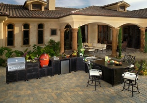 Dining, kitchen and fire pit/table collections are integrated from pull-down menus.
