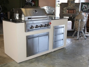 The Swiss Series BBQ Island Package Special is a 6-foot Island with many options.