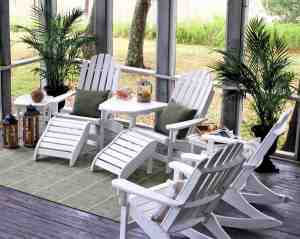 The Pawleys Island® Coastal Collection includes chairs, rockers and swings with seats and seatbacks.