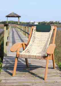 Hand-woven DuraCord®rope (choice of eight colors) or plump interwoven cushions of Sunbrella®fabric are available.