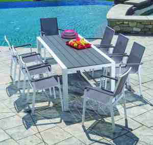 Solace is an addition to the Alfresco Homes' collection of contemporary clean outdoor furniture.