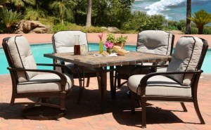 Terraza's seating and dining pieces bring a regal presence.