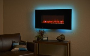 A GreatCo. Electric fireplace can be used without the heat on.