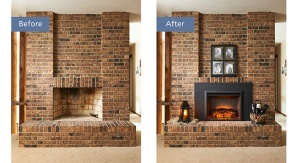 The cost to install and use an electric fireplace is at least four times less than a gas insert.