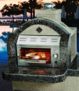 The SalamanGrill uses an infrared broiler.